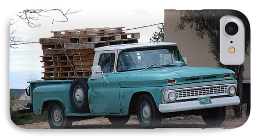 Old Truck IPhone 7 Case featuring the photograph Old Chevy by Rob Hans