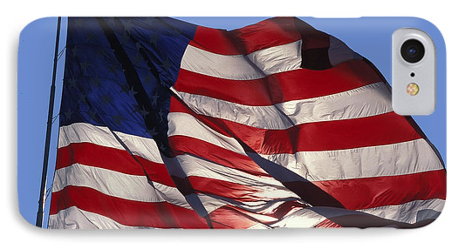 American IPhone 7 Case featuring the photograph Old Glory by Carl Purcell