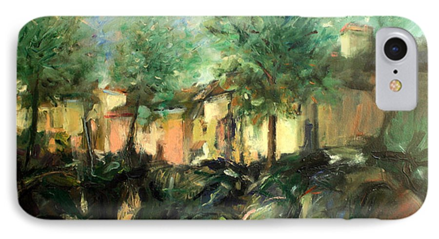 Old Houses IPhone 7 Case featuring the painting Old Houses by Mario Zampedroni