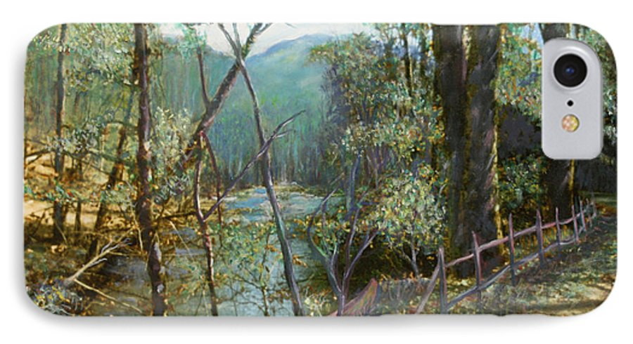 River; Trees; Landscape IPhone 7 Case featuring the painting Old Man River by Ben Kiger
