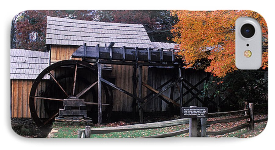 Waterwheel IPhone 7 Case featuring the photograph Old Mill In Virginia by Carl Purcell