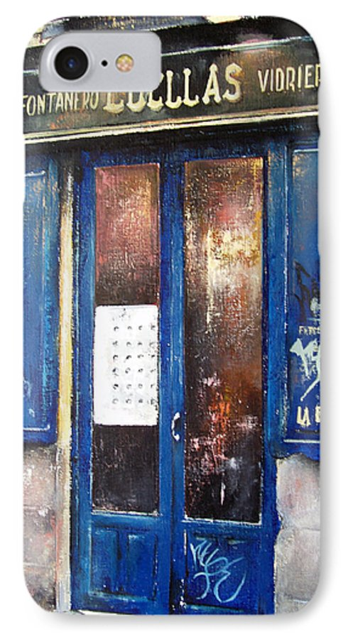 Old IPhone 7 Case featuring the painting Old Plumbing-madrid by Tomas Castano