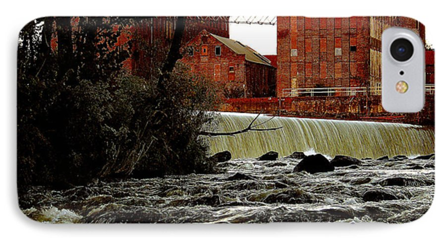 Water IPhone 7 Case featuring the photograph Old River Dam In Columbus Georgia by Ruben Flanagan