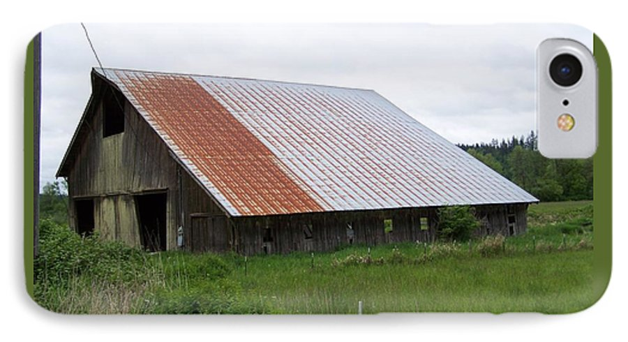 Barn IPhone 7 Case featuring the photograph Old Tin Roof Barn Washington State by Laurie Kidd