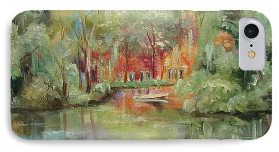 Bayou IPhone 7 Case featuring the painting On A Bayou by Ginger Concepcion