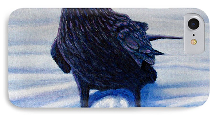 Raven IPhone 7 Case featuring the painting On Canyon Road by Brian Commerford