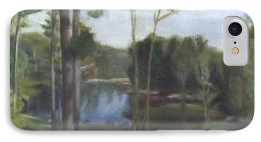 Landscape IPhone 7 Case featuring the painting Once by Sheila Mashaw