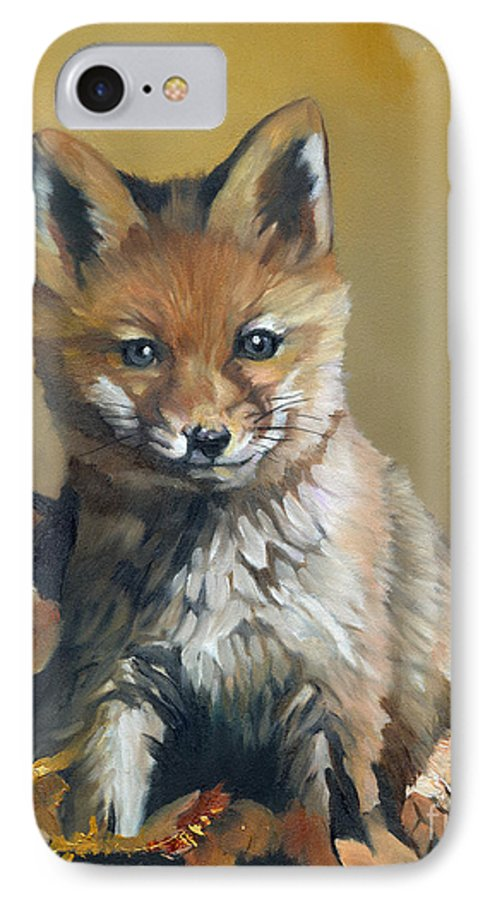 Fox IPhone 7 Case featuring the painting Once Upon A Time by J W Baker