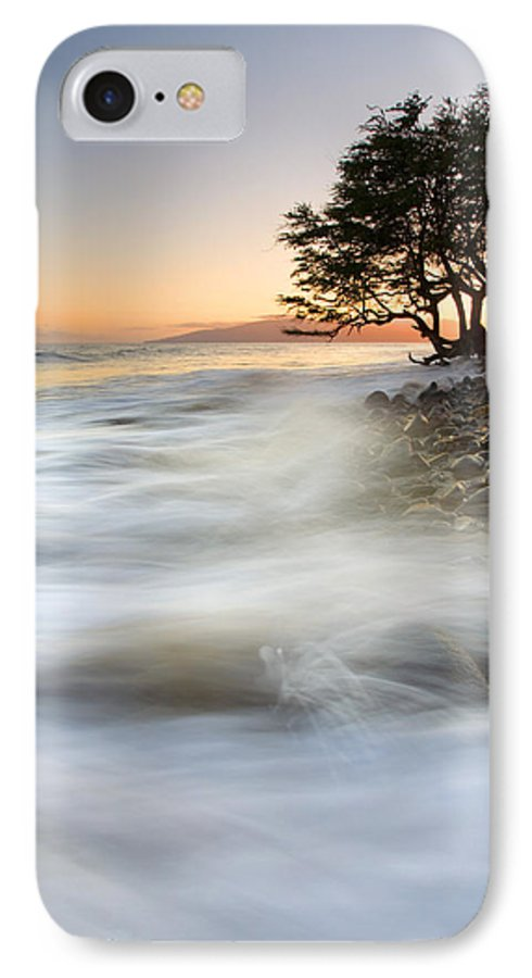 Sunset IPhone 7 Case featuring the photograph One Against The Tides by Mike Dawson