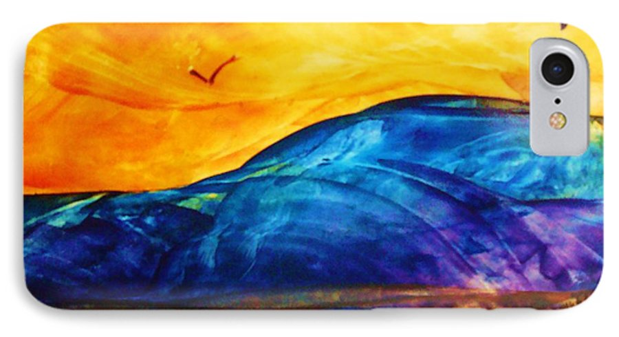 Landscape IPhone 7 Case featuring the painting One Fine Day by Melinda Etzold