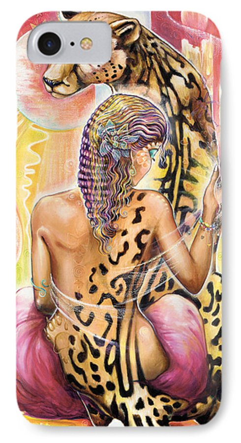 Animals IPhone 7 Case featuring the painting Oneness by Blaze Warrender