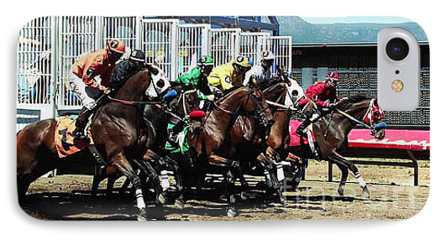 Horse IPhone 7 Case featuring the photograph Only A Mile To Go by Kathy McClure