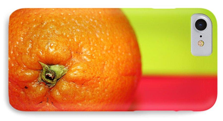 Oranges IPhone 7 Case featuring the photograph Orange by Linda Sannuti
