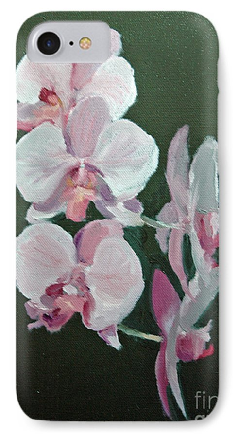 Floral IPhone 7 Case featuring the painting Orchids For Didi by Glenn Secrest