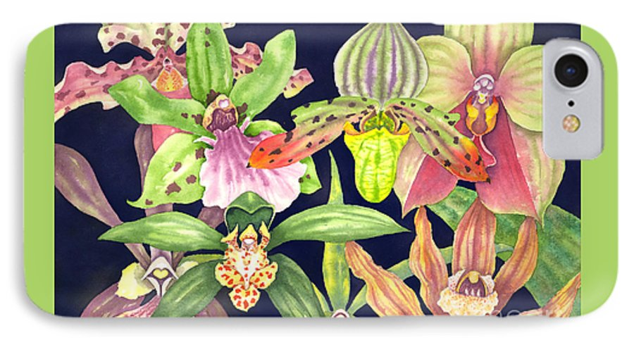 Orchids IPhone 7 Case featuring the painting Orchids by Lucy Arnold