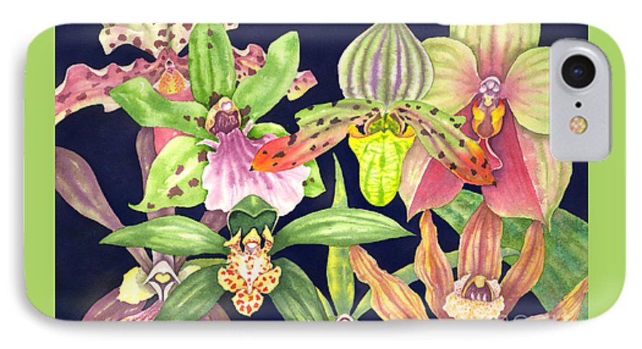 Orchids IPhone Case featuring the painting Orchids by Lucy Arnold