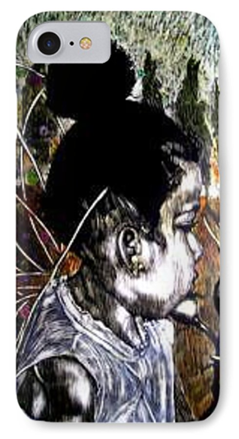 Fantasy IPhone 7 Case featuring the mixed media Our Farie Princess by Chester Elmore