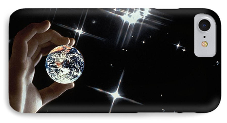 Stars IPhone 7 Case featuring the photograph Our Precious Planet by Carl Purcell