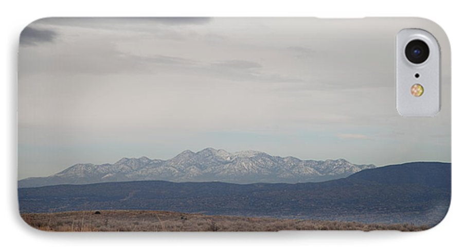 Mountains IPhone 7 Case featuring the photograph Overcast On The Sandias by Rob Hans