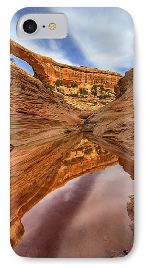 Bridge IPhone 7 Case featuring the photograph Owachomo Reflected by Mike Dawson