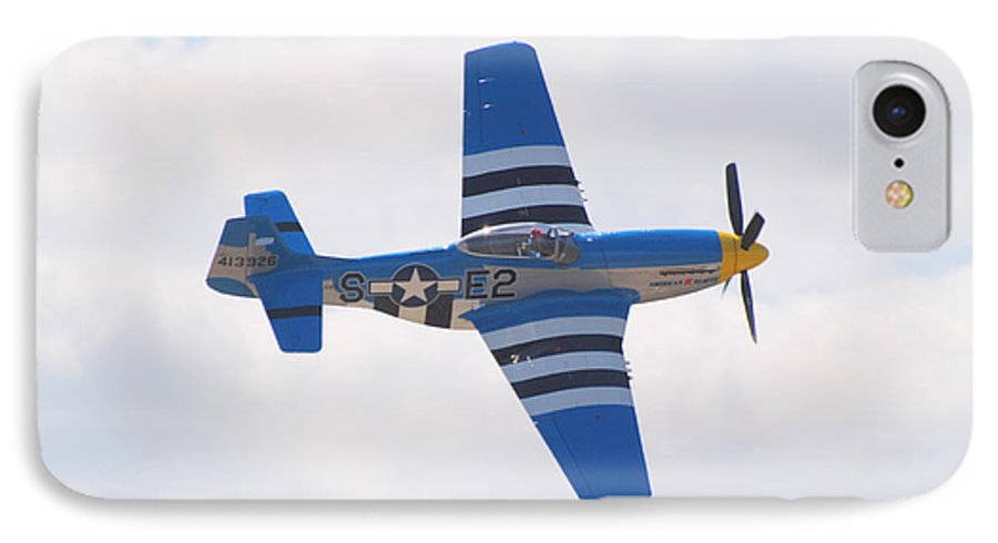 P 51 IPhone 7 Case featuring the photograph P-51 Mustang American Rose by Larry Keahey