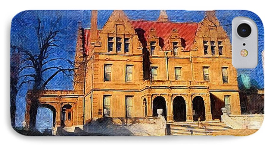 Architecture IPhone 7 Case featuring the digital art Pabst Mansion by Anita Burgermeister