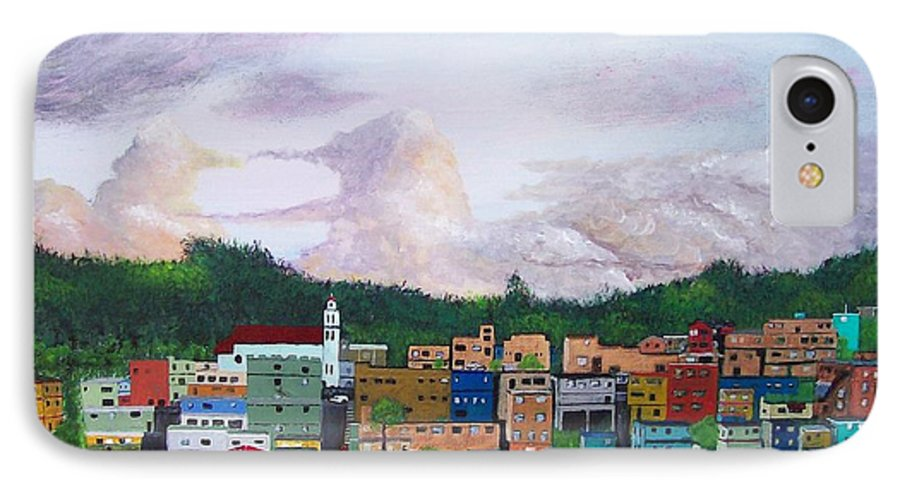 Painting The Town IPhone 7 Case featuring the painting Painting The Town by Tony Rodriguez