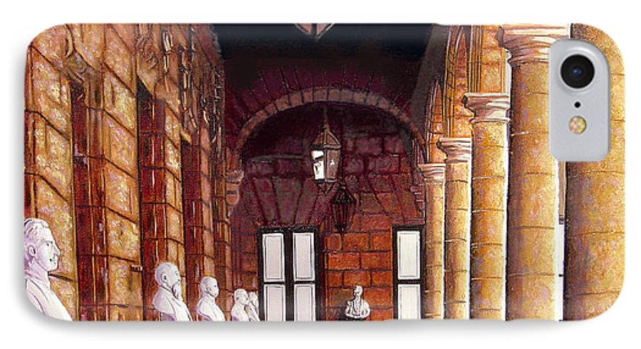Cuban Art IPhone 7 Case featuring the painting Palacio by Jose Manuel Abraham