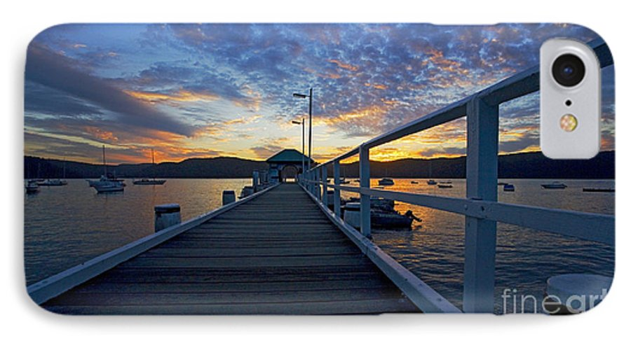 Palm Beach Sydney Wharf Sunset Dusk Water Pittwater IPhone 7 Case featuring the photograph Palm Beach Wharf At Dusk by Sheila Smart Fine Art Photography