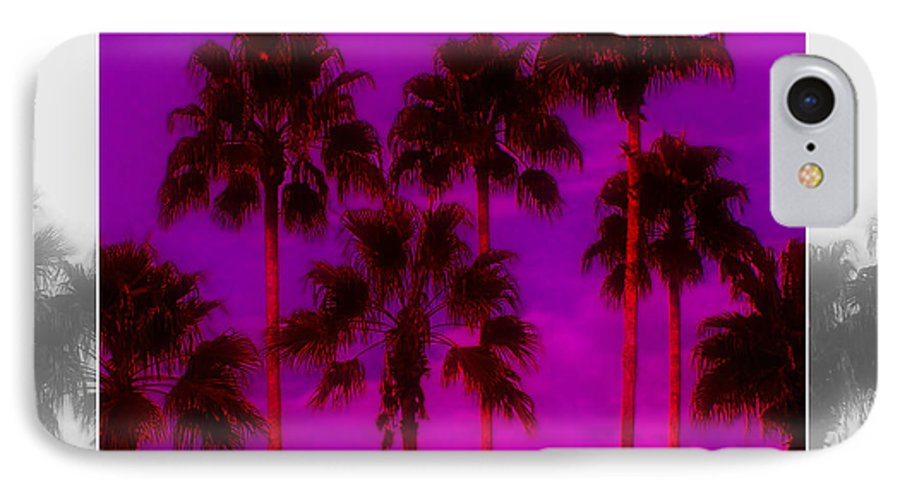 Palm IPhone 7 Case featuring the photograph Palm Tree Heaven by Kenneth Krolikowski