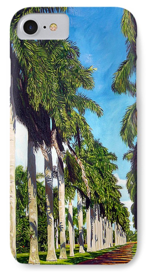Palms IPhone 7 Case featuring the painting Palms by Jose Manuel Abraham