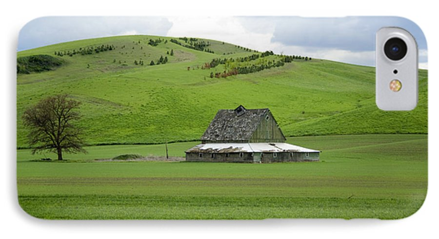 Palouse IPhone 7 Case featuring the photograph Palouse Old Barn by Louise Magno