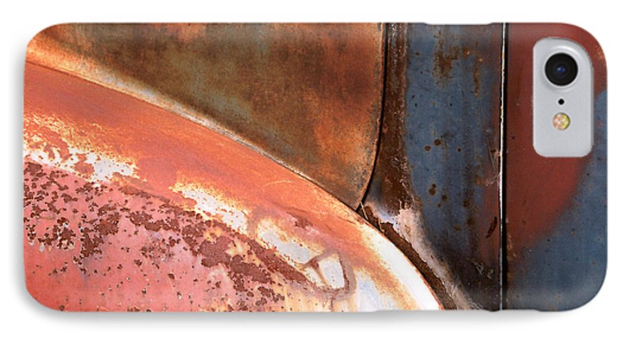 Abstract IPhone 7 Case featuring the photograph Panel From Ole Bill by Steve Karol