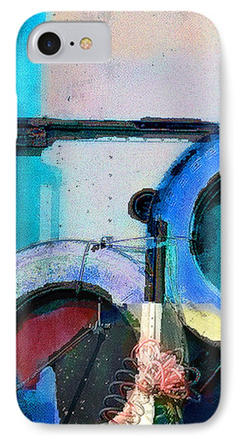 Abstract IPhone 7 Case featuring the photograph panel three from Centrifuge by Steve Karol