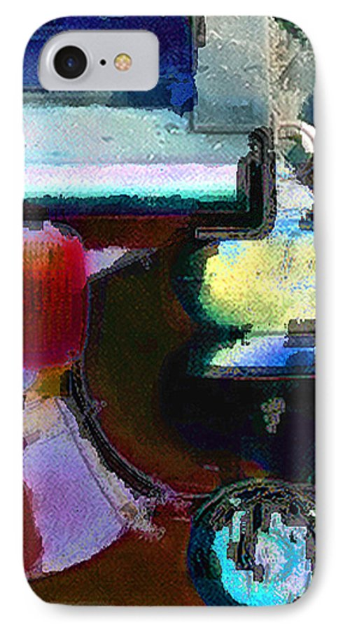 Abstract IPhone 7 Case featuring the photograph panel two from Centrifuge by Steve Karol