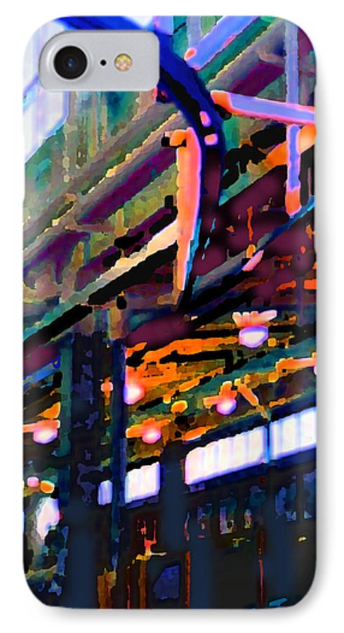 Abstract IPhone 7 Case featuring the photograph panel two from Star Factory by Steve Karol