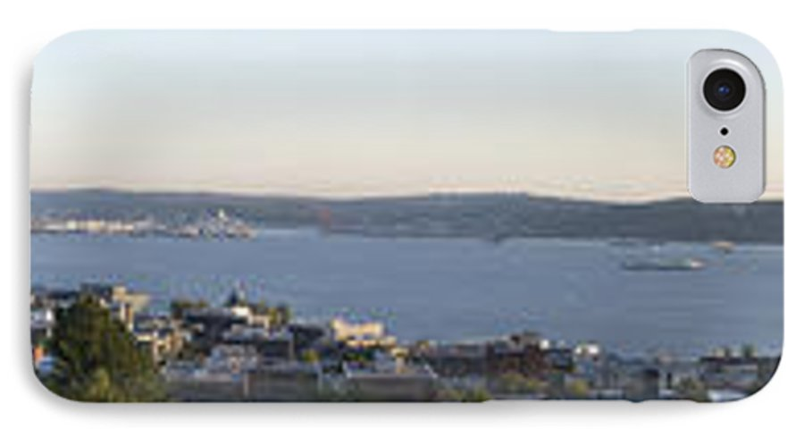 Panoramic IPhone 7 Case featuring the photograph Panoramic Of Seattle by Larry Keahey