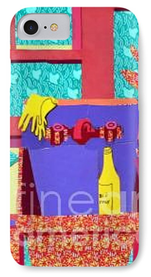 Kitchen Sink IPhone Case featuring the mixed media Parish Kitchen by Debra Bretton Robinson
