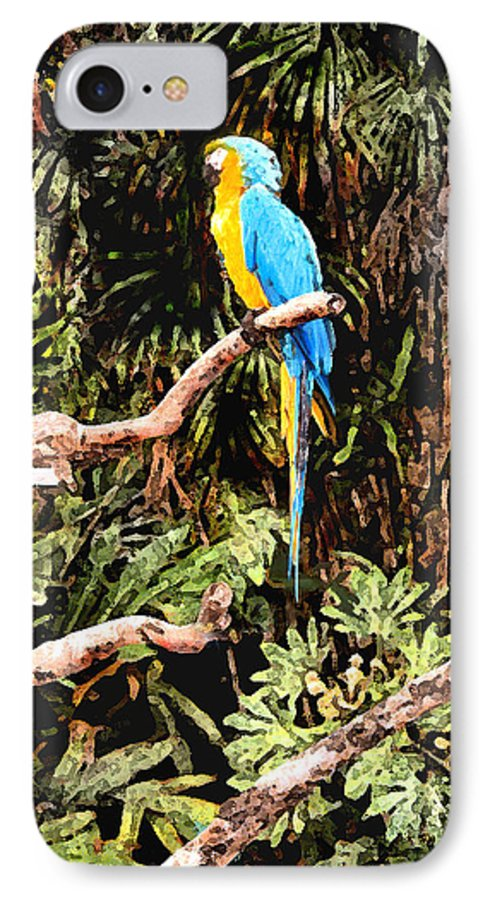Parrot IPhone 7 Case featuring the photograph Parrot by Steve Karol