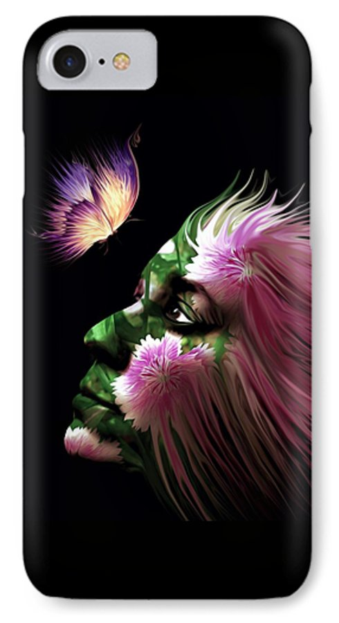 Flowers IPhone 7 Case featuring the digital art Part Of Me by Jenn Teel