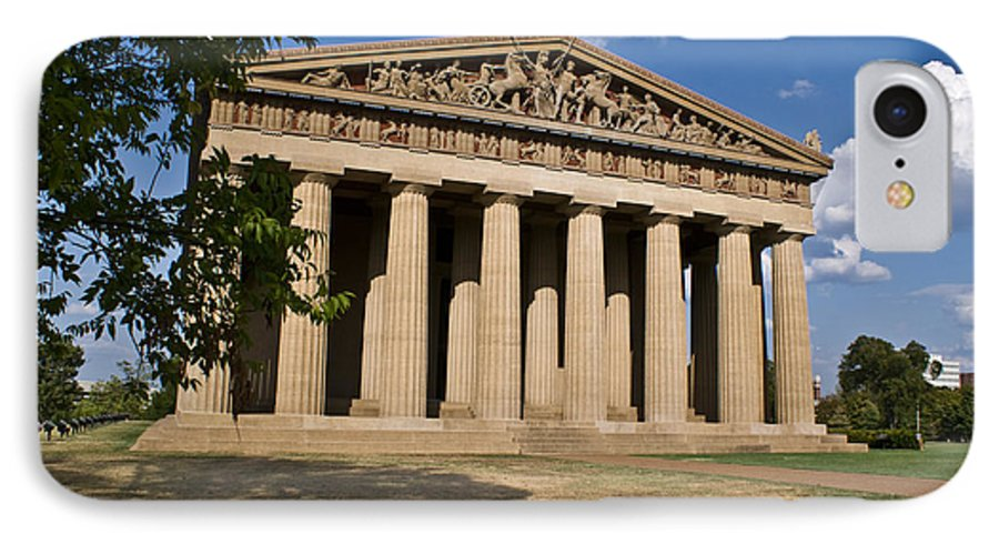Parthenon IPhone 7 Case featuring the photograph Parthenon Nashville Tennessee by Douglas Barnett