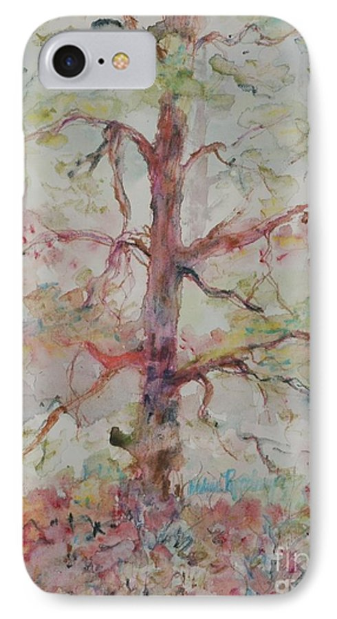 Forest IPhone 7 Case featuring the painting Pastel Forest by Nadine Rippelmeyer