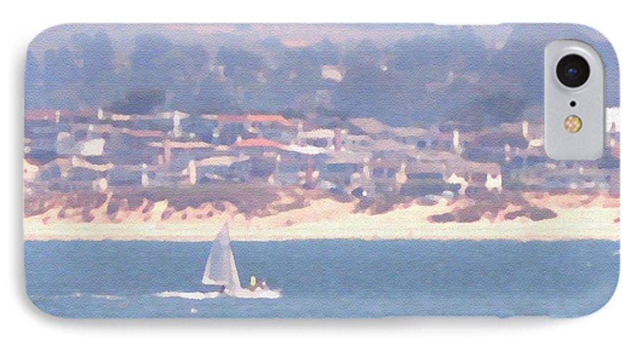 Sailing IPhone 7 Case featuring the photograph Pastel Sail by Pharris Art