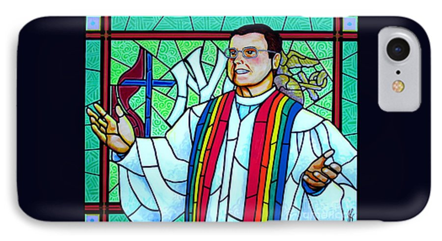 Pastor IPhone 7 Case featuring the painting Pastor Charlie by Jim Harris