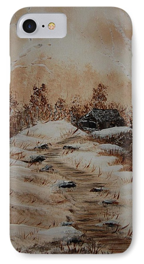 Acrylics IPhone 7 Case featuring the painting Pathway To Freedom by Laurie Kidd