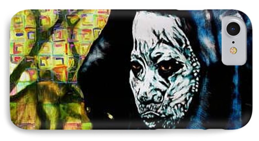 Tribal IPhone 7 Case featuring the mixed media Pathways by Chester Elmore
