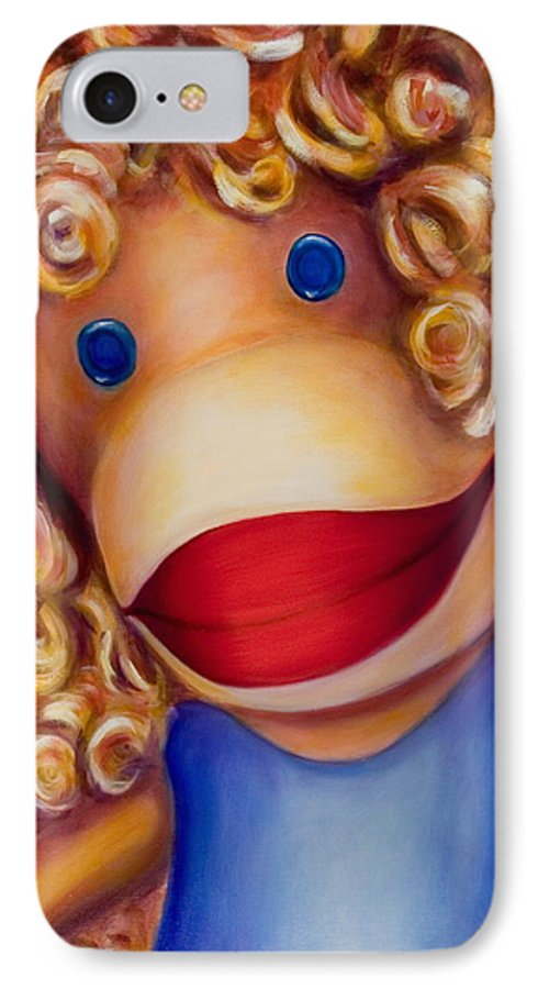 Children IPhone 7 Case featuring the painting Patricia by Shannon Grissom