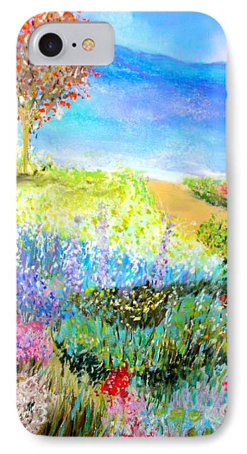 Landscape IPhone 7 Case featuring the print Patricia's Pathway by Melinda Etzold