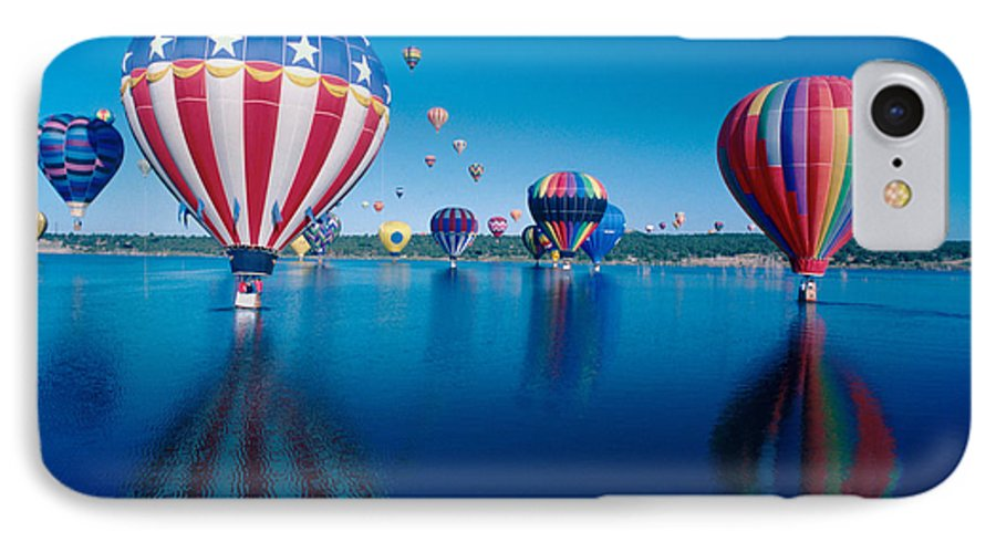 Hot Air Balloons IPhone 7 Case featuring the photograph Patriotic Hot Air Balloon by Jerry McElroy