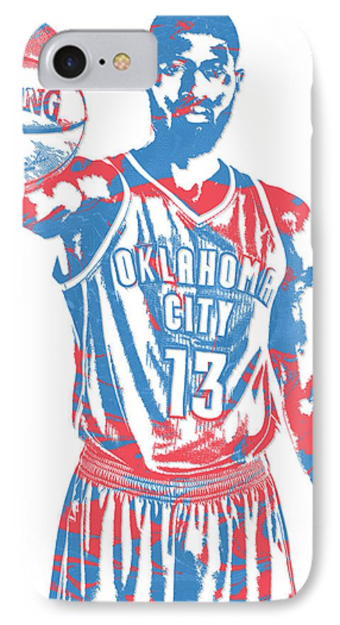 cheap for discount af488 01f7c Paul George Oklahoma City Thunder Pixel Art 3 IPhone 7 Case